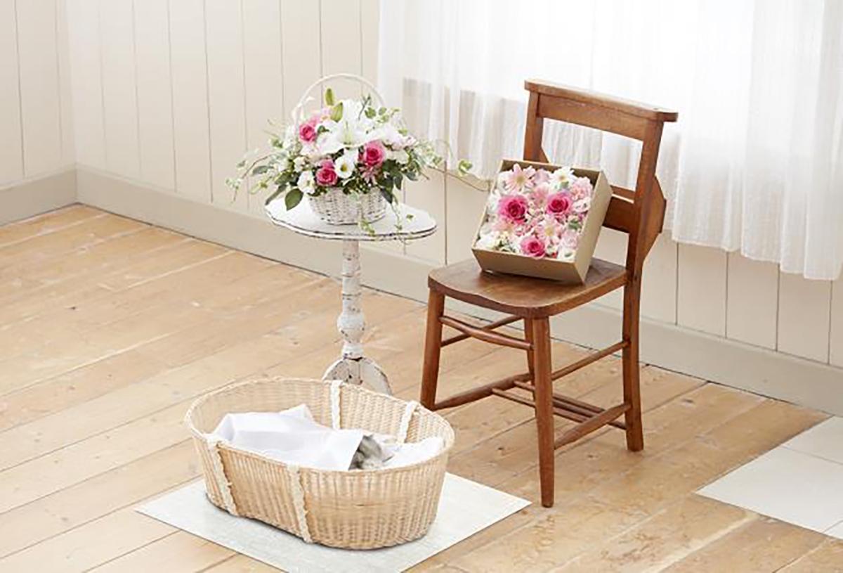 花花壇 バスケット&お別れ花BOX
