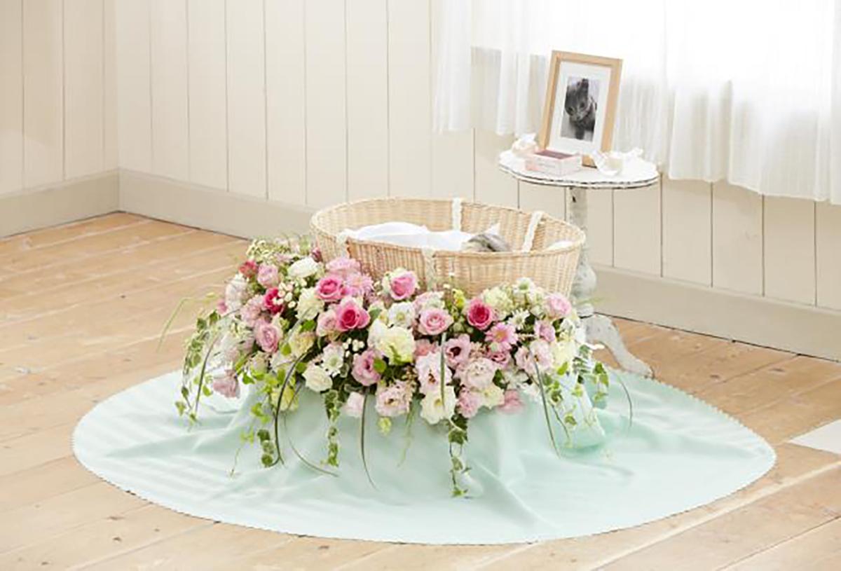 花祭壇ラウンドピンク